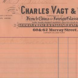Charles Vagt & Co. Bill or ...