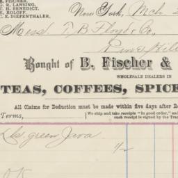 B. Fischer & Co. Bill or re...