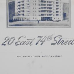 20 E. 74 Street, Plans Of 1...