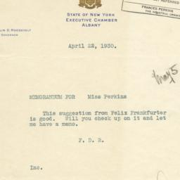 Memorandum for Frances Perk...