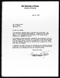 Letter from Horace R. Cayton to Gunnar Myrdal, May 16, 1939