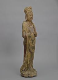 Bodhisattva Standing on a Lotus Base, Right 3/4