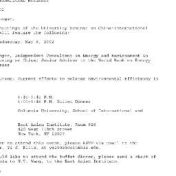 Announcements, 2002-05-08. ...