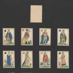 Playing cards with elegant ...