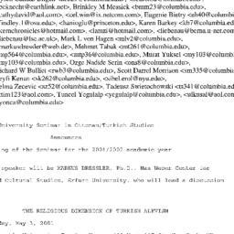 Announcements, 2002-05-03. ...