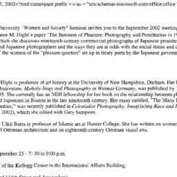 Announcements, 2002-09-02. ...