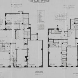 1100 Park Avenue, Plan Of A...