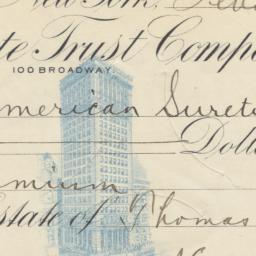American Surety Company. Bi...