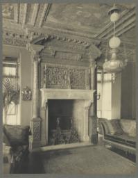 Drawing room, detail of mantel at West end (Lexington Avenue)