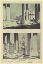 The Agricultural From the south Colonnade, looking north. Showing statuary lately places--Manufactures in the distance. Machinery Hall from the same point as above. On extreme right, the Illinois dome
