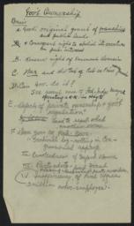 Gov't Ownership, undated : autograph manuscript notes
