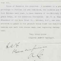 Typed Letter to David Homer...