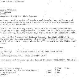 Announcements, 2002-04-10. ...