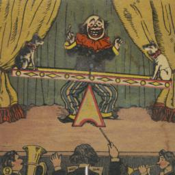 Clown With Two Dogs On See-...