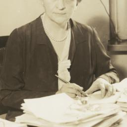 Frances Perkins with Pen an...