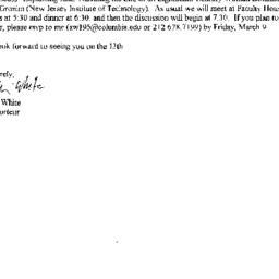 Announcements, 2001-03-13. ...