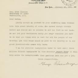 Letter from George Rosenber...