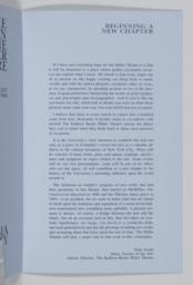 "Page 3; Essay, ""Beginning A New Chapter"" by Peter Smith, Dean, Faculty Of The Arts"