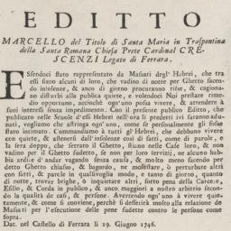 Editto. Marcello del Titolo...