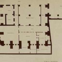 Plan of Basement. Bowery Sa...