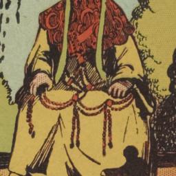 13th Dalai Lama on chair