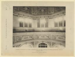 Interior decoration of dome, Administration Building, World's Columbian Exposition, Chicago. Horizontal view. Richard M. Hunt, Architect, New York