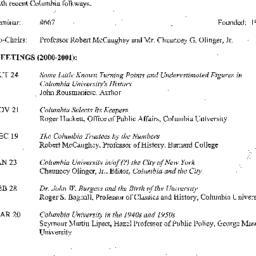 Announcements, 2001-03-20. ...
