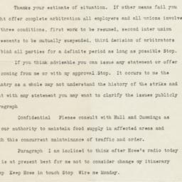 Copy of telegram from Presi...