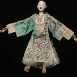 Chinese Male Figurine  With...