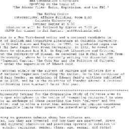Announcements, 2001-01-31. ...