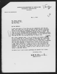 Letter from Will Winton Alexander to Gunnar Myrdal, May 1, 1940