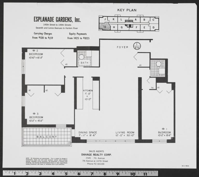 Esplanade Gardens Seventh Avenue And W 145 Street I The New York Real Estate Brochure Collection