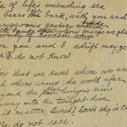 Drifting : poem (unpublishe...