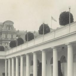 [White House, portico of We...