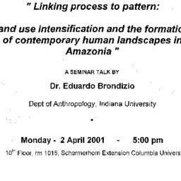 Announcements, 2001-04-02. ...