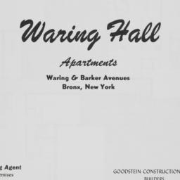 Waring Hall, Waring Avenue ...