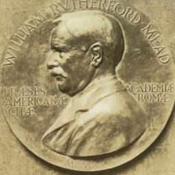 [Medal showing profile of W...