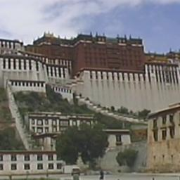 Scenes of Lhasa and aerial ...