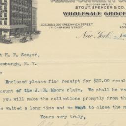 Allen-Ditchett Company, letter