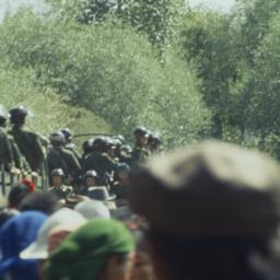 Tibetans gathered near Tash...
