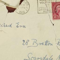 Letter from Dietrich Bonhoe...