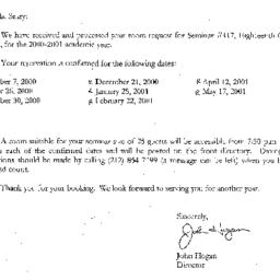 Correspondence, 2001-06-20....