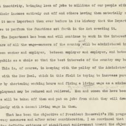 Speech of Secretary of Labo...