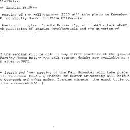 Announcements, 2000-11-29. ...