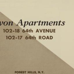 Avon Apartments, 102-18 64 ...