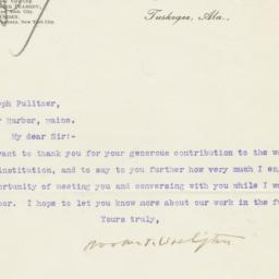 Typed Letter, Signed, To Jo...