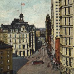 Park Row and Post Office, N...