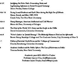 Schedules, Twentieth Centur...
