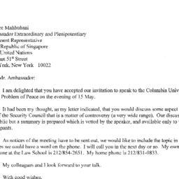 Correspondence, 2001-04-16....