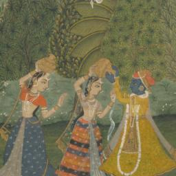 Krishna in a Garden with Tw...